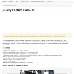 jQuery Feature Carousel