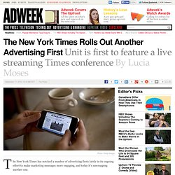 The New York Times Has First Ad Unit to Feature Live Times Conference