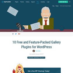 10 Free and Feature-Packed Gallery Plugins for WordPress