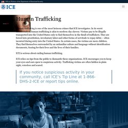 Feature: Human Trafficking
