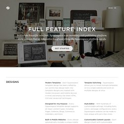 Feature Index — Squarespace