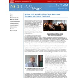 Feature - OCCAM Newsletter spring 2012