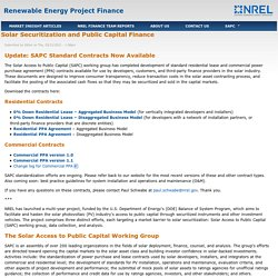 Renewable Energy Project Finance