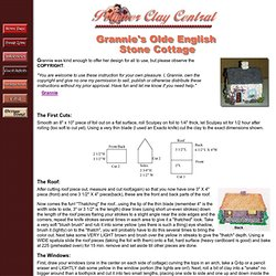 PCC Clay Featured Artists -Gannie Stone Cottage Lesson