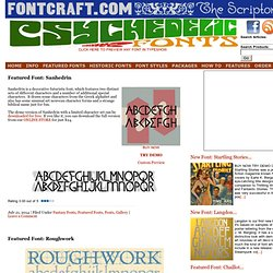 Featured Fonts | Fontcraft: Scriptorium Fonts, Art and Design