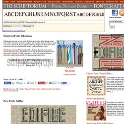 Fontcraft: Scriptorium Fonts, Art and Design