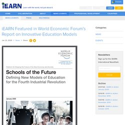 Featured in World Economic Forum's Report on Innovative Education Models