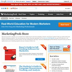 Featured Products: MarketingProfs Store