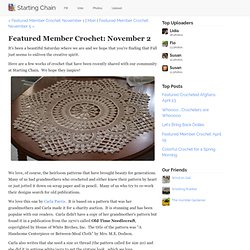 Featured Member Crochet: November 2 - Starting Chain