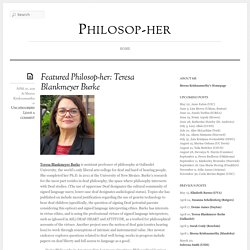 Featured Philosop-her: Teresa Blankmeyer Burke « Philosop-her