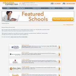 Featured Schools
