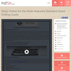 Shop Online for the Multi-featured Standard Sized Drilling Guide