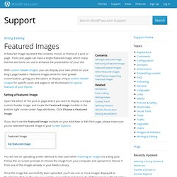 Featured Images « Support — WordPress.com