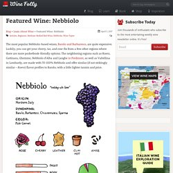 Featured Wine: Nebbiolo