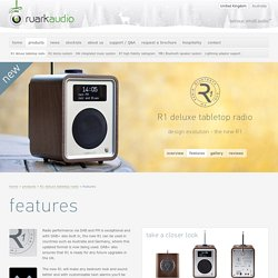 features & accessories : Ruark Audio R1 deluxe tabletop radio