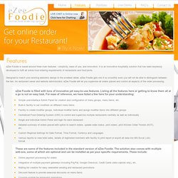 Features and advantages of Online food Ordering System – Order Food online