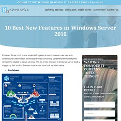 10 Best New Features in Windows Server 2016