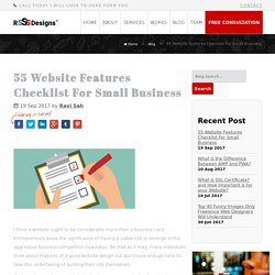 55 Website Features Checklist For Small Business