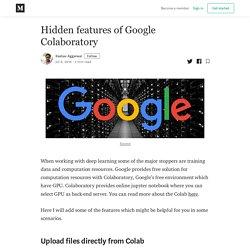 Hidden features of Google Colaboratory - Keshav Aggarwal - Medium