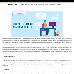 List of features of Computer Science Assignment Help