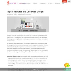 Top 10 Features of a Good Web Design - Carmatec Qatar WLL