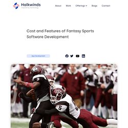 Cost and Features of Fantasy Sports Software Development - Halkwinds