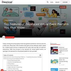 Top Features of Dreamcast Virtual Event Platform You Must Know