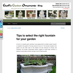 Amazing garden water features for garden