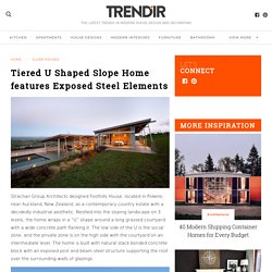 Tiered U Shaped Slope Home features Exposed Steel Elements