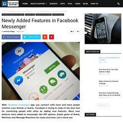 Newly Added Features in Facebook Messenger