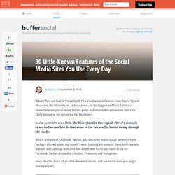 30 Little-Known Features of Facebook, Twitter, and More