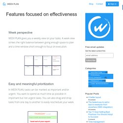 Features focused on effectiveness