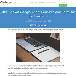 Little-Known Google Sheet Features and Formulas for Teachers