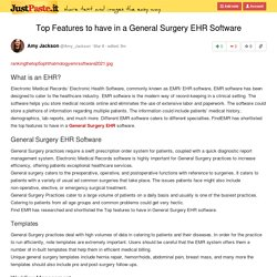 Top Features to have in a General Surgery EHR Software