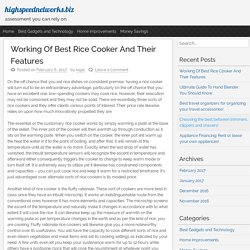 Working Of Best Rice Cooker And Their Features – highspeednetworks.biz