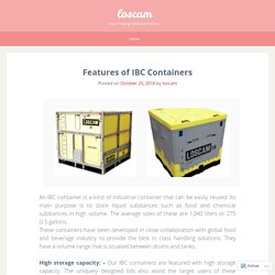 Features of IBC Containers