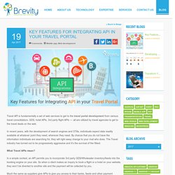 Prime Factors for Integrating API in your Travel Portal Development