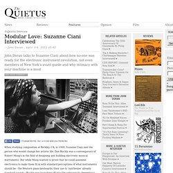 Modular Love: Suzanne Ciani Interviewed