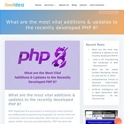 PHP 8 - New Features, Updates and JIT Compiler