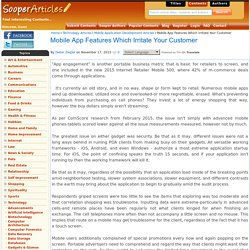 Mobile App Features Which Irritate Your Customer