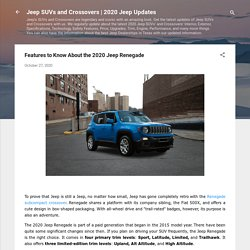 2020 Jeep Renegade Features