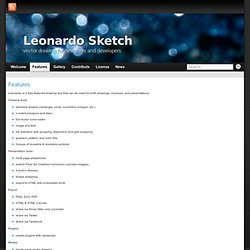 Features » Leonardo Sketch