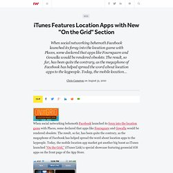 """iTunes Features Location Apps with New """"On the Grid"""" Section"""