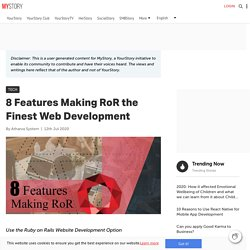 8 Features Making RoR the Finest Web Development