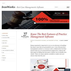 Know The Best Features of Practice Management Software