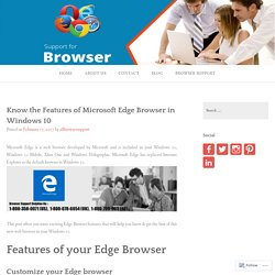 Know the Features of Microsoft Edge Browser in Windows 10