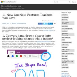 11 New OneNote Features Teachers Will Love