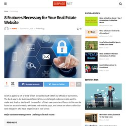 8 Features Necessary for Your Real Estate Website