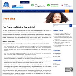 Fine Features of Online Course Help! - classof1