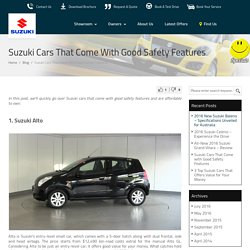 Suzuki Cars That Come with Good Safety Features : Penrith Suzuki Blog